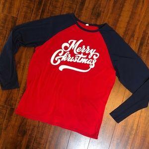 Merry Christmas Jersey Tee T- Shirt